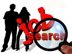 Students searching for jobs